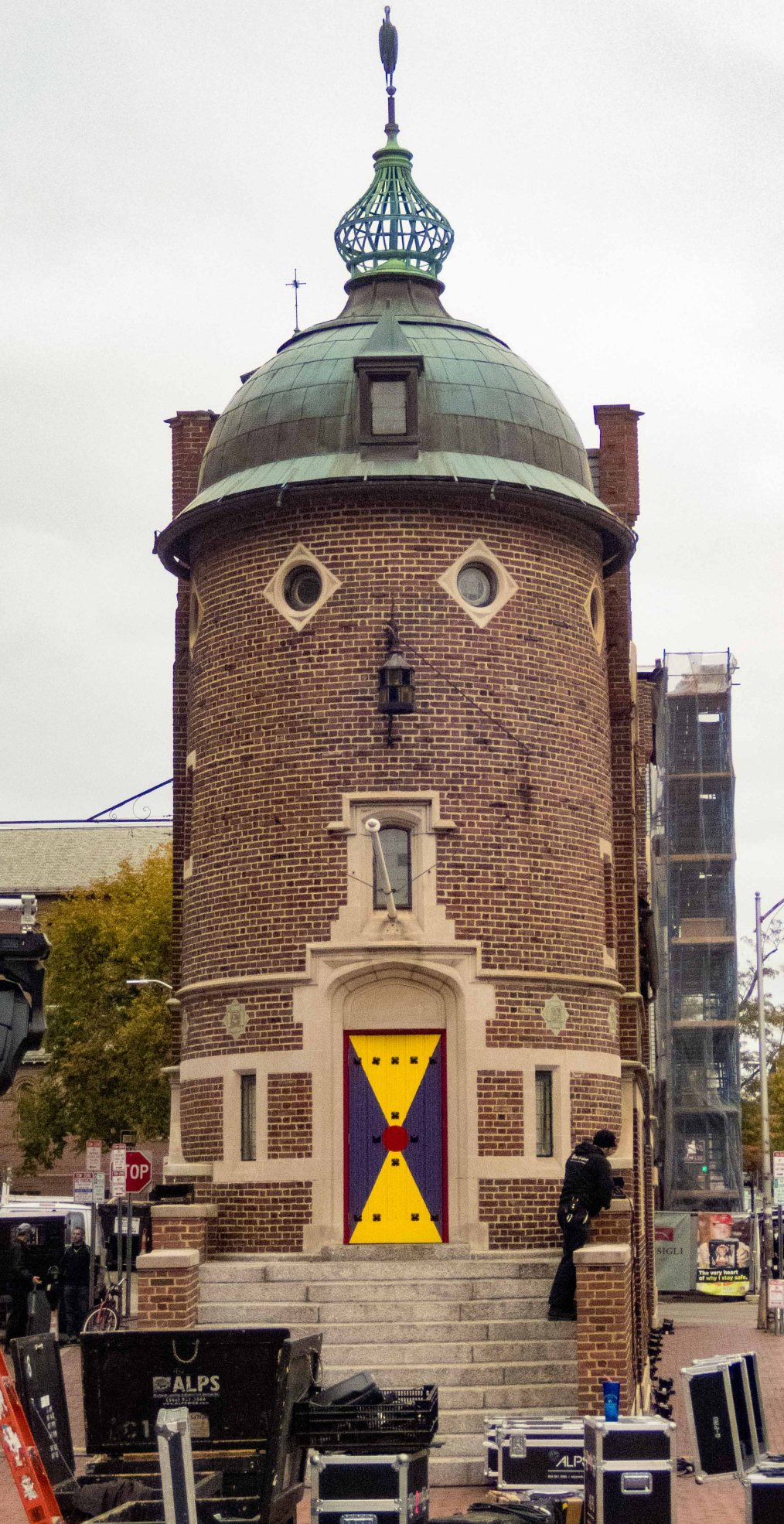 The whimsical building of the Harvard Lampoon