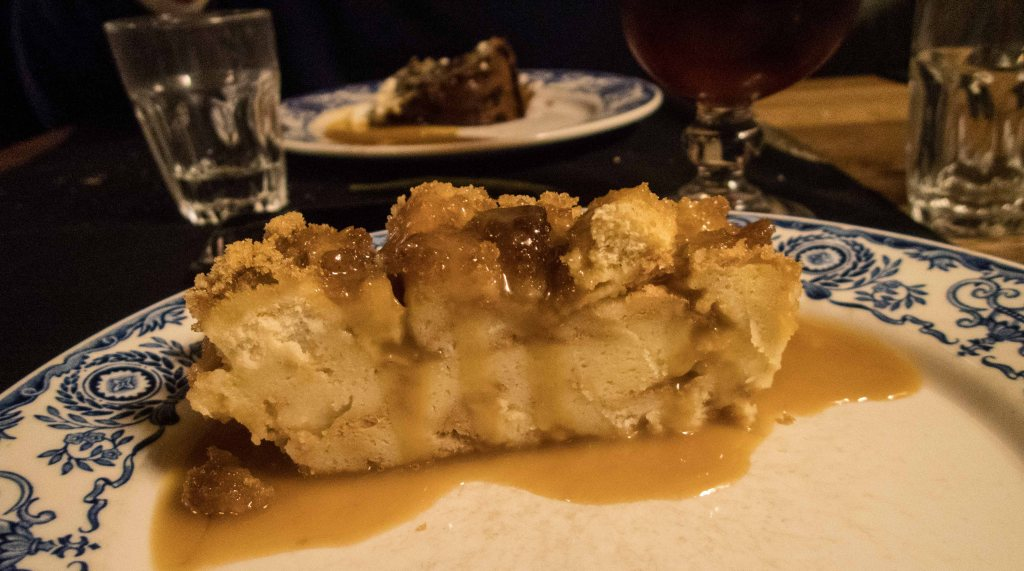 Canadian bread pudding with Maple syrup
