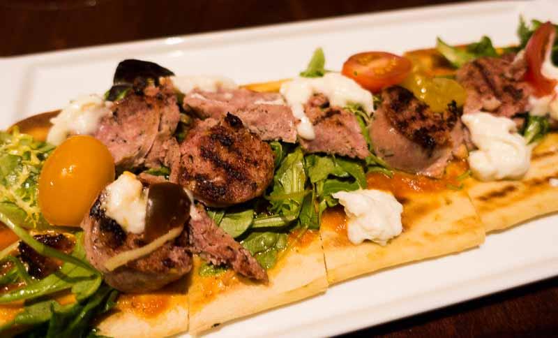 Italian sausage flatbread.
