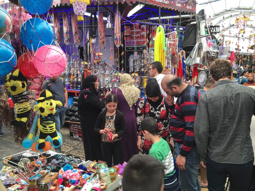 The marketplace is vibrant and colorful.