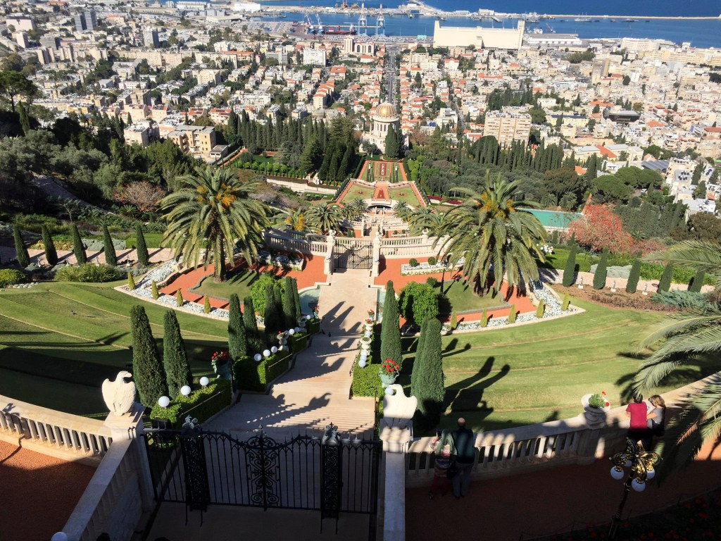The Baha'i Gardens, going down 750 steps