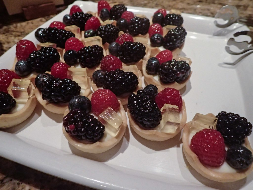 Brilliantly decorated tarts