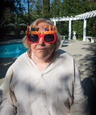 Gail had to try the shades