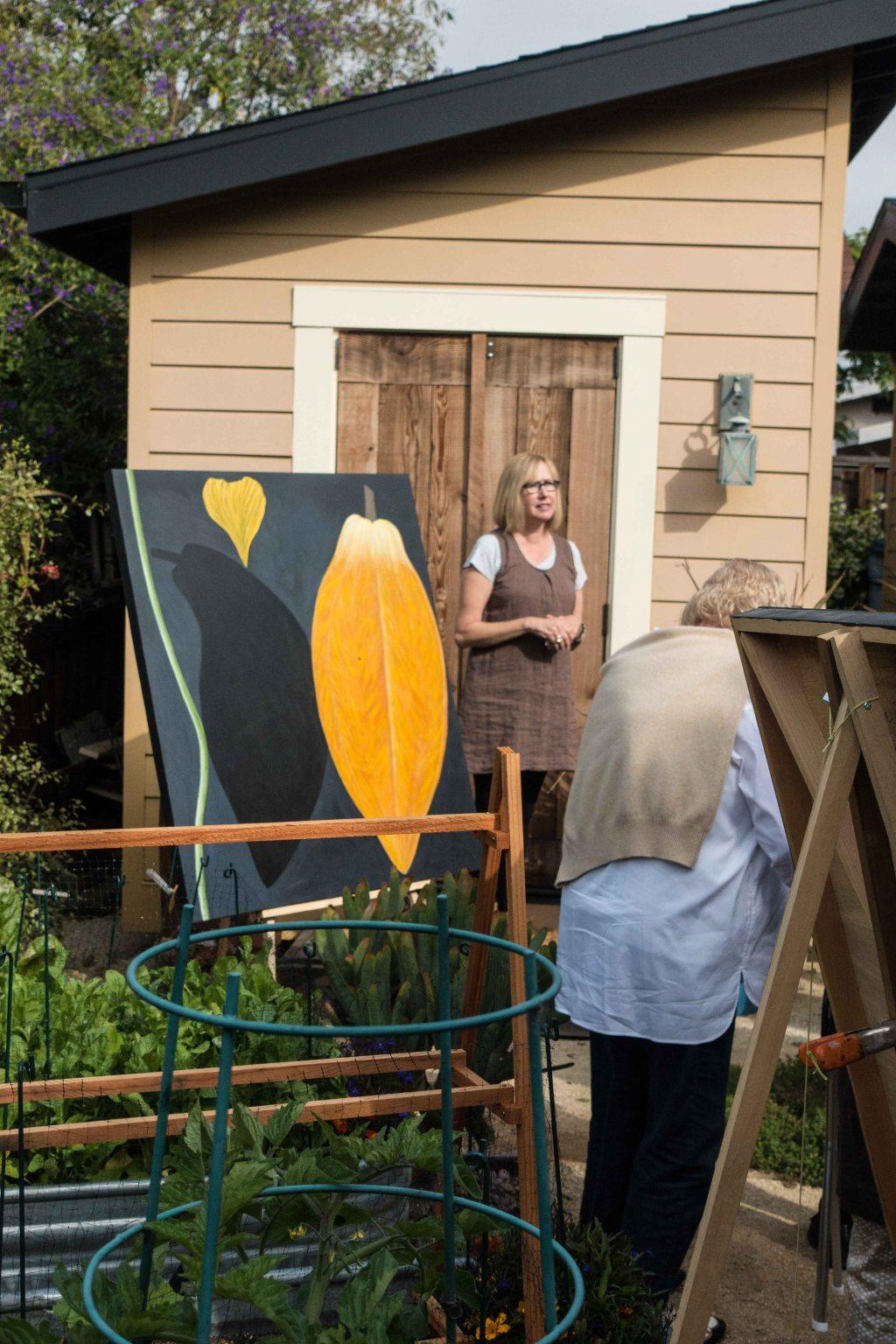 Lynda in he garden
