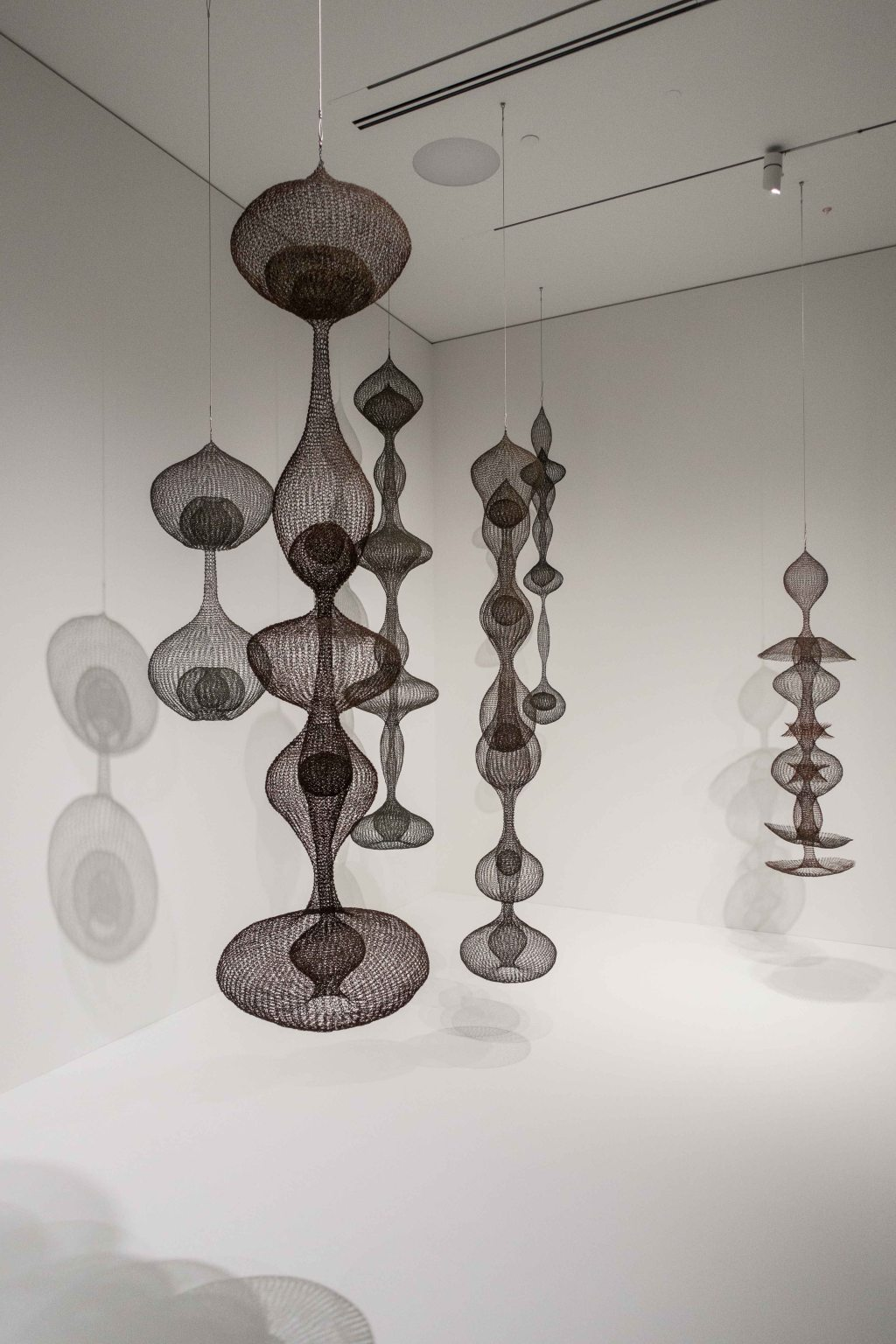 Wire sculptures by Ruth Azawa
