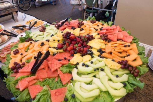 Huge fruit platter.