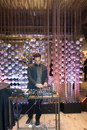 DJ cranking up the tunes