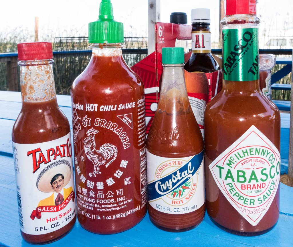 A full gamut of choices to make your food hot and spicy.