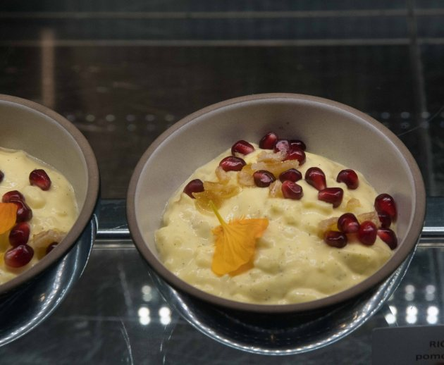 Rice pudding with pomegranate & citrus