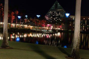 Dolphin hotel with bridge