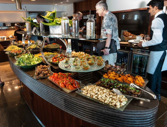 The salad bar at The Sizzler was never like this