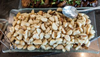 I've never seen a platter of just garlic before.