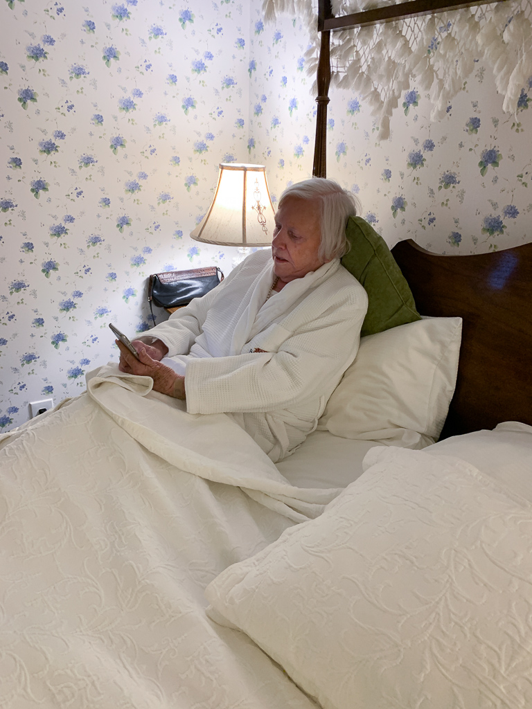 Gail in bed